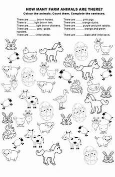 animal worksheets to colour 14048 how many farm animals park akademi