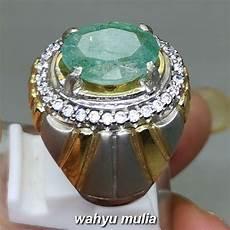 Batu Cincin Akik Zamrud Emerald Beryl Asli Kode 1843