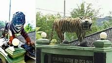 Harimau Garang Gantikan Macan Lucu Di Koramil Cisewu Garut
