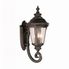 bel air lighting way 4 light black coach outdoor wall lantern with seeded glass