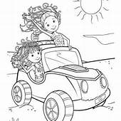 Groovy Girls Are Writing Letters Coloring Page
