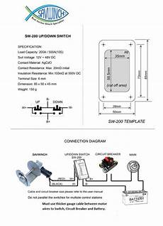 wiring diagram for boat winch wiring diagram savwinch boat anchor winch specialists
