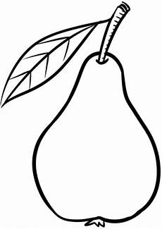pear coloring page free printable coloring pages