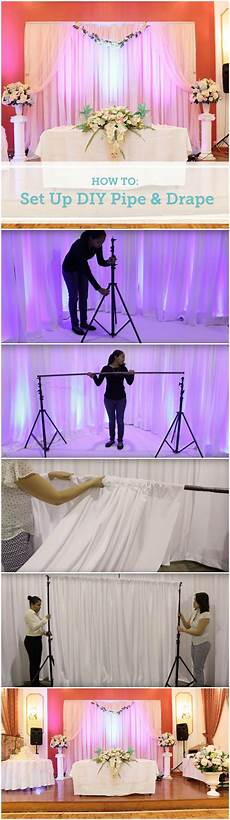 Backdrop Set Up how to set up a diy wedding backdrop diy pipe pipes and