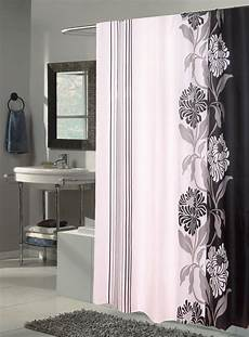 Black Shower Curtain carnation home fashions chelsea fabric shower