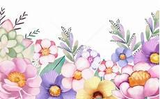 Tangan Dicat Latar Belakang Bunga Air Gambar Unduh Gratis