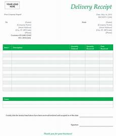 customer receipt template excel delivery receipt template sle for word or excel