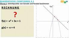 mathematik nachhilfe wie berechnet schnittpunkte