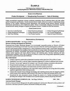 product management and marketing executive resume exle marketing resume sle resume