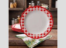 """The Pioneer Woman Charming Check 10.75"""" Dinner Plates S"""