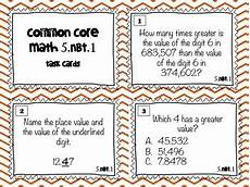 place value task cards 5th grade 5 nbt 1 by robles tpt