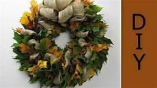Herbstkranz Mit Laubbl 228 Tter Und Kastanien Binden Deko