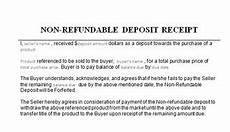 Refundable Deposit Receipt Template Rent Deposit Receipt