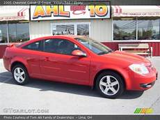 victory red 2005 chevrolet cobalt ls coupe ebony