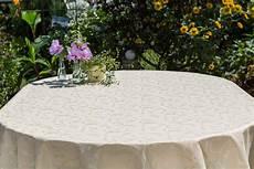 abwaschbare tischdecke acryl oval beige crem