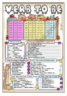 verb to be grammar and 6 different exercises for beginners esl worksheet by aguila