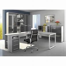 armoire haute de bureau design gris platine verre gris