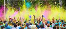 color vibe run combines exercise paint dancing charity and fun the times weekly