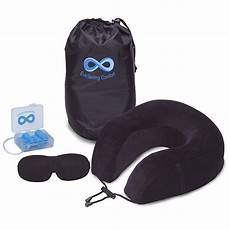 travel neck pillow pillow with eye mask ear plugs
