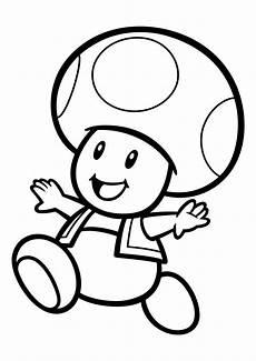 Gratis Malvorlagen Mario Mario Toad Ausmalbilder Kinder Ausmalbilder
