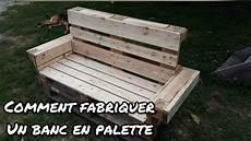 fabriquer un banc de jardin comment faire un banc en palette