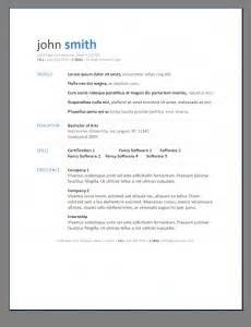 primer s 6 free resume templates open resume templates