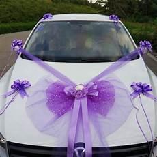 Kit De D 233 Coration Pour Voiture Mariage Luxe Violet Parme