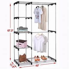 Garment Storage Organizer silver portable closet organizer storage clothes hanger