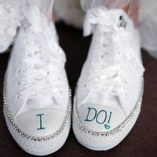 bridal sneakers a cute way to stay comfortable while