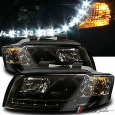 for 2002 2005 audi a4 s4 r8 drl led projector blk headlights head lights pair ebay