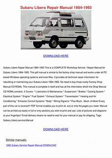 download car manuals pdf free 1993 subaru justy windshield wipe control subaru libero repair manual 1984 1993 by margaritaholloway issuu