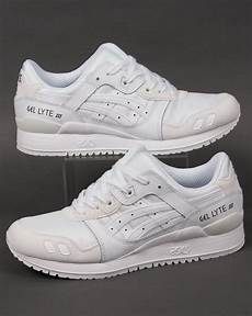 asics gel lyte iii suede trainers white white 3 shoes