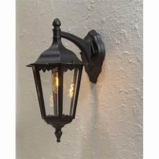 konstsmide firenze downward single light outdoor wall fitting in black finish castlegate lights