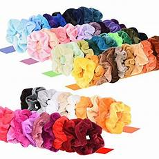 Amazon 50 Pcs Premium Velvet Hair Scrunchies 8 60 Pcs Premium Velvet Hair Scrunchies Tiendamia Com