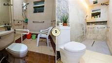 a dramatic hotel like makeover for a tiny and old bathroom