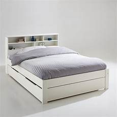 nikk 246 solid pine bed with shelves white la redoute