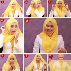 Tutorial Jilbab Segi Empat Untuk Kebaya Sederhana Model