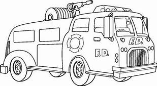 Pumper Truck In Online Fire Coloring Page For