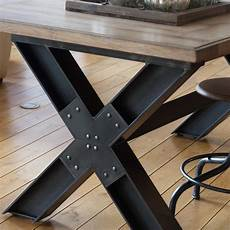 pied de table en metal retrouvez la table pieds en x mod 232 le wisconsin chez l