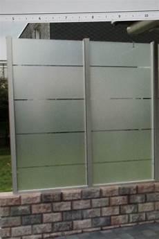 Sichtschutzzaun Glas Zaun Glaselement Sichtschutz