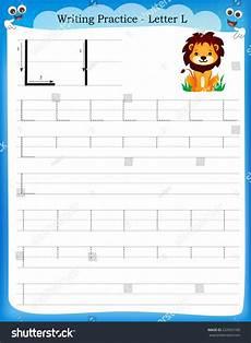 letter l worksheets for preschoolers 23200 writing practice letter l printable worksheet with clip for preschool kindergarten to