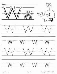 letter w worksheets for pre k 23711 free printable letter w tracing worksheet supplyme