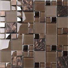 Glass Mosaic Kitchen Backsplash Brown Glass Mosaic Kitchen Backsplash Tile Contemporary