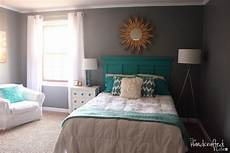 Bedroom Ideas Grey And Black by The Handcrafted Teal White And Grey Guest Bedroom