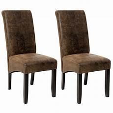 chaises salle à manger 2 chaises de salle 224 manger design 105 cm marron aspect