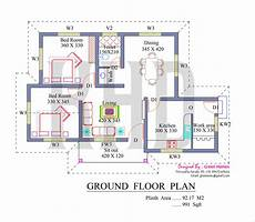 kerala house floor plans low cost house in kerala with plan photos 991 sq ft khp