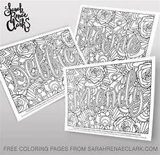 free customized name coloring page