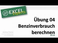 Benzinverbrauch Berechnen 220 Bung 04 At Excel Experts