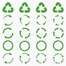 Grüner Pfeil An El - kreispfeile vektor abbildung illustration hintergrund