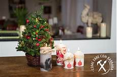 candele decorate per natale candele natalizie decorate fai da te come fare con
